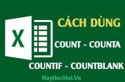 Cách sử dụng hàm Count, Countif, CountA và CountBlank trong Excel 2010